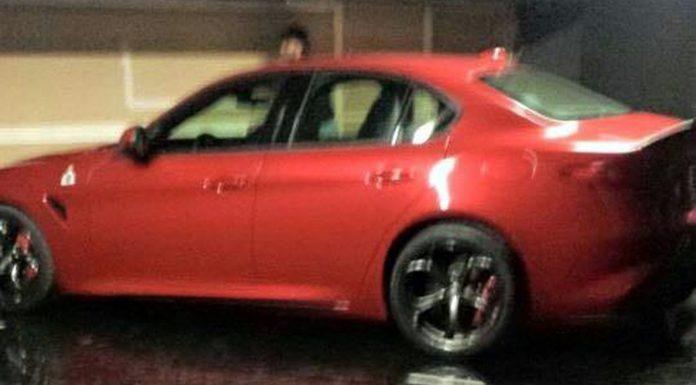 Alfa Romeo Giulia leaks side