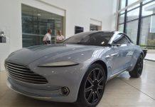 Aston Martin DBX in light blue