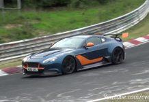 Aston Martin Vantage GT12 tests at the Nurburgring