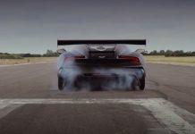 Aston Martin Vulcan accelerates