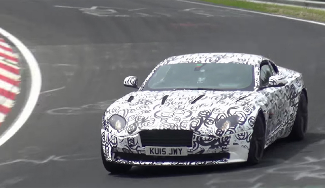 Aston Martin DB11 tests at the Nurburgring