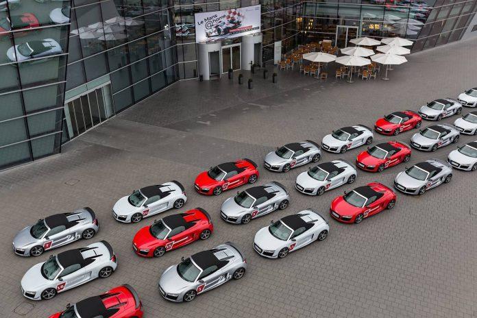 30 Audi R8 Spyder's Honor Audi at Le Mans