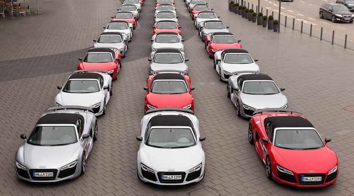 Audi R8 Soyder Group Photo