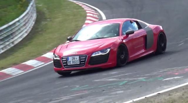 Audi R8 e-tron tests at the Nurburgring