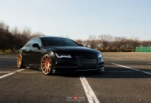 Black Audi RS7 with Gold Vossen Wheels