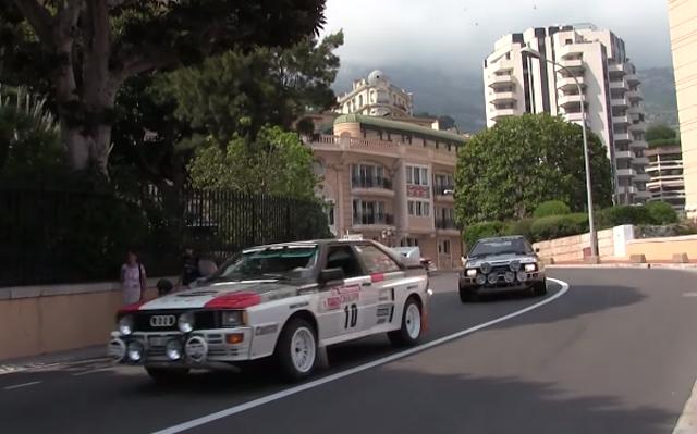 Seven Audi Quattros in Monaco