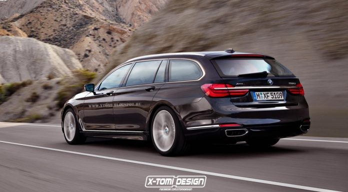 BMW 7-Series rendering in Touring specification