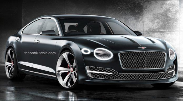 Bentley four door coupe front