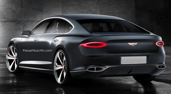 Bentley four door coupe rear