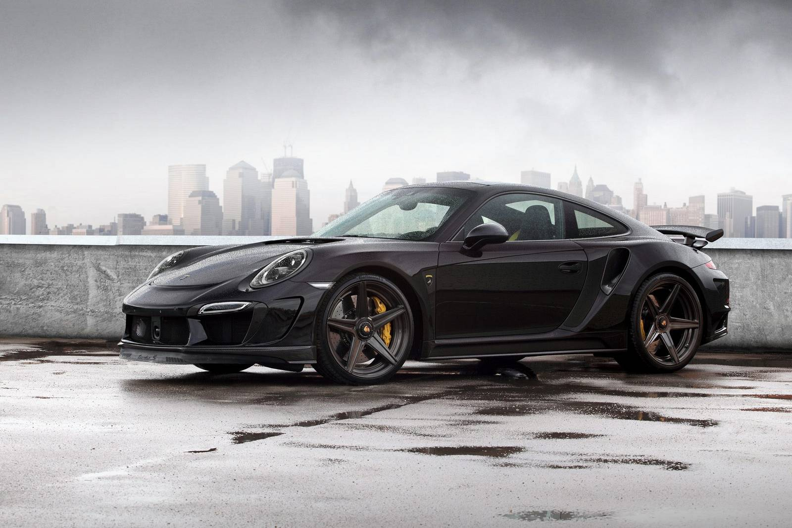 Topcar Reveals Black Porsche 911 Stinger Gtr Gtspirit