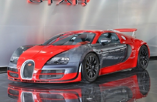 red and silver bugatti veyron super sport sells in dubai gtspirit. Black Bedroom Furniture Sets. Home Design Ideas
