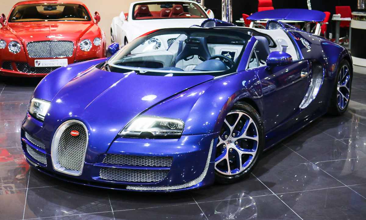 bespoke blue on blue bugatti veyron vitesse for sale. Black Bedroom Furniture Sets. Home Design Ideas