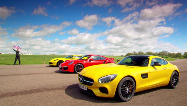 Jeremy Clarkson, Richard Hammond, James May test Mercedes-AMG GT S, Porsche 911 Turbo and Corvette Z06