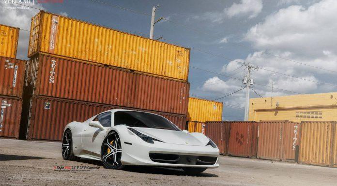 White Ferrari 458 Spider