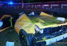 Ferrari 458 Spider crash rear