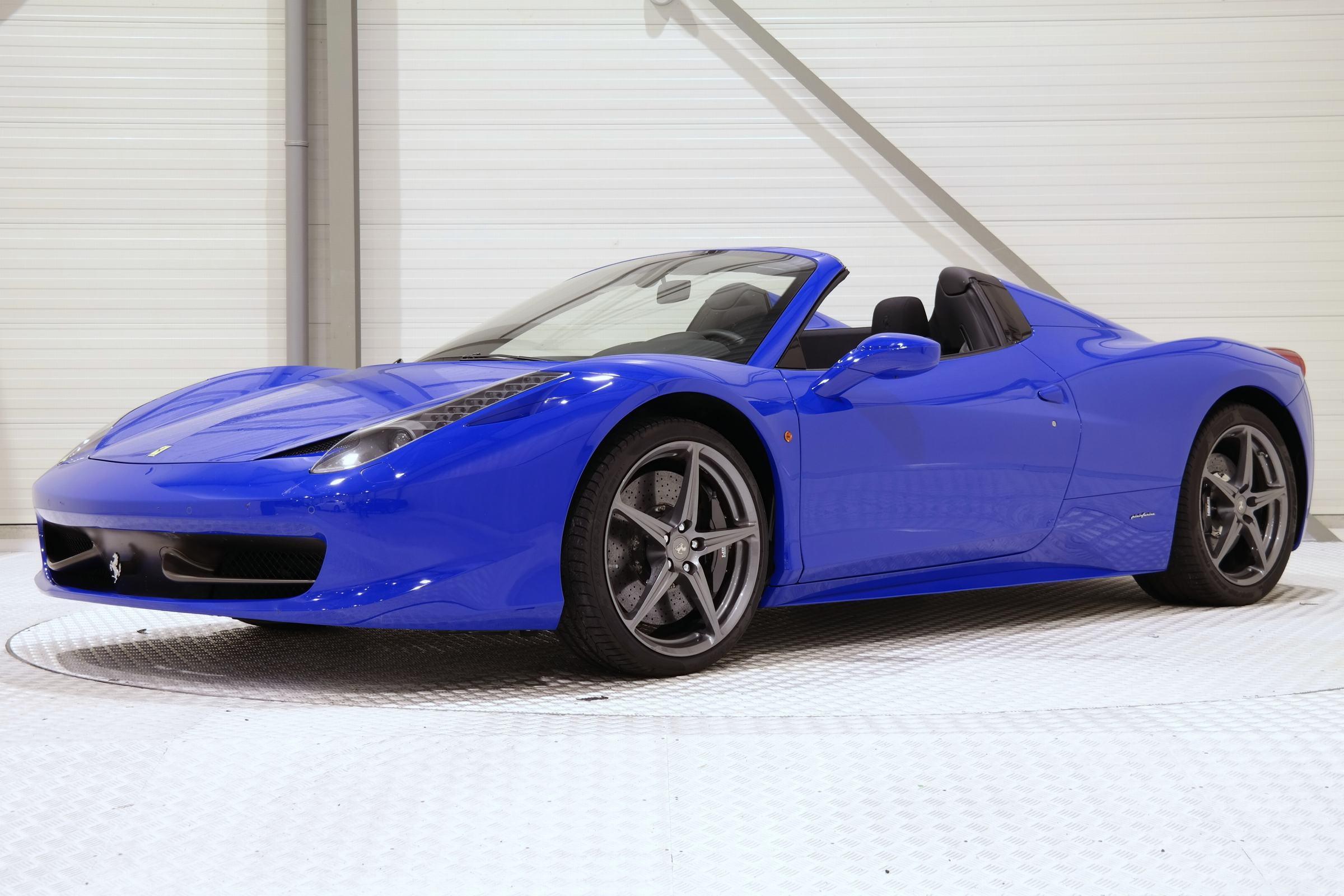 Unique Bugatti Blue Ferrari 458 Spider Hits The Market Gtspirit
