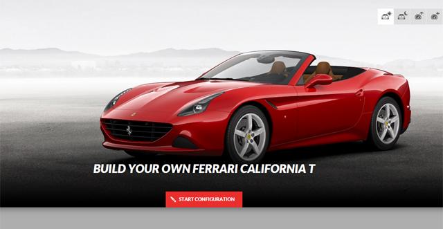 Ferrari California T online configurator