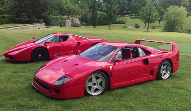 Ferrari Enzo and Ferrari F40 drift