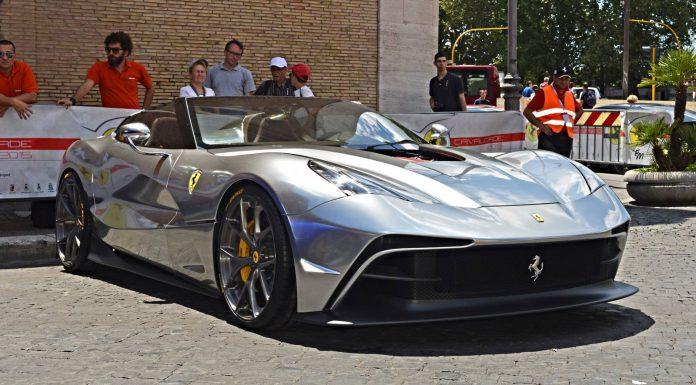 Silver Chrome Ferrari F12 TRS Emerges in Rome