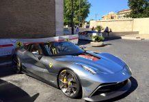 Third Ferrari F12 TRS debuts front