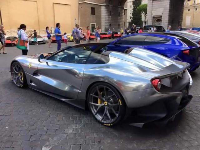 Third Ferrari F12 TRS debuts back