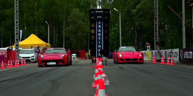 Ferrari F12 vs 599 GTO