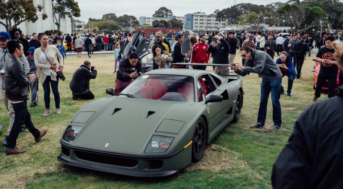 Matte Green Ferrari F40 in San Francisco