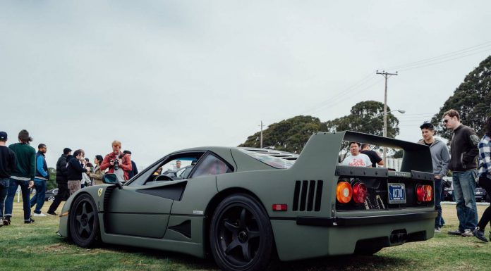 Matte Green Ferrari F40