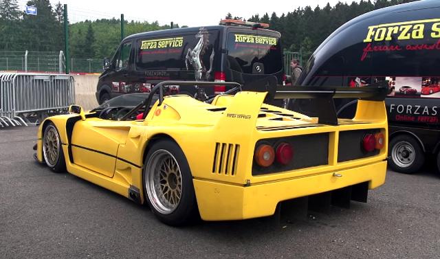 Up close with the Ferrari F40 Barchetta Beurlys