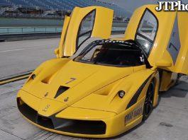 Ferrari FXX Evoluzione on track