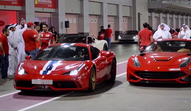 Ferraris Flock to Qatari Track Day