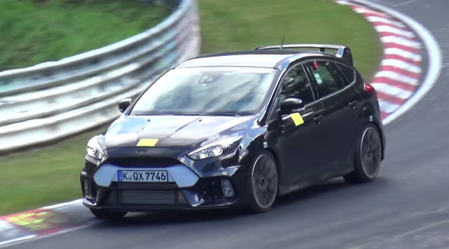 Ford Focus RS tests at the Nurburgring