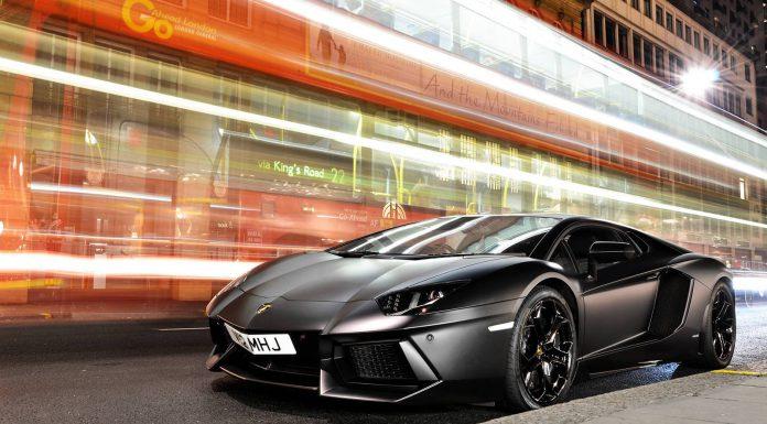 Matte Black Aventador