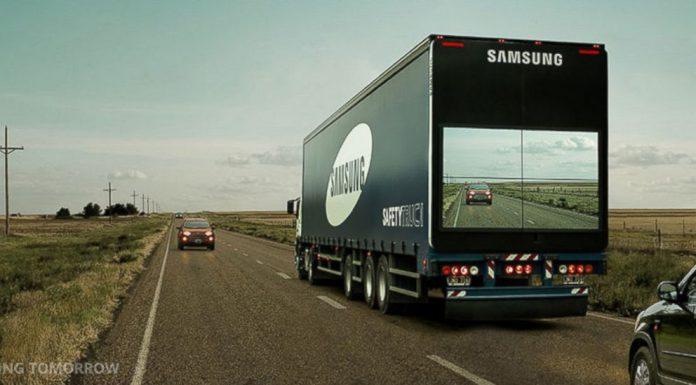 """Samsung Reveals """"Transparent"""" Truck for Safer Roads"""