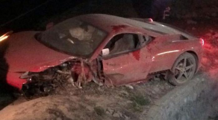 Ferrari crash in Chile