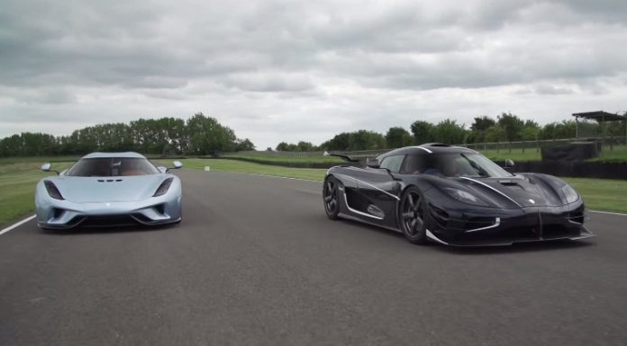 Koenigsegg Regera and One:1 driving together