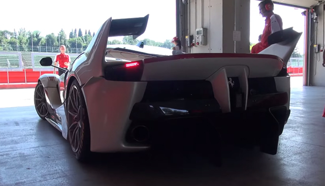 LaFerrari FXX K tests at Imola