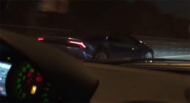 Lamborghini Huracan vs Ferrari 599 GTO race