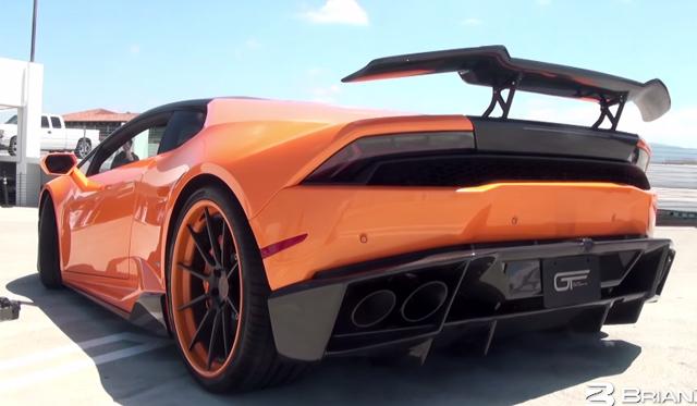 Lamborghini huracan with iPE exhaust