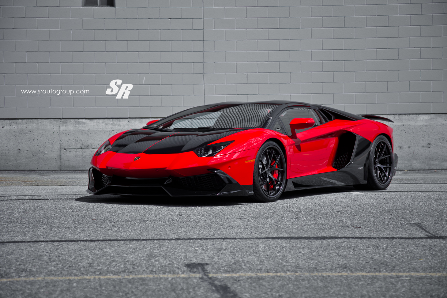sr auto group reveals custom red lamborghini aventador. Black Bedroom Furniture Sets. Home Design Ideas