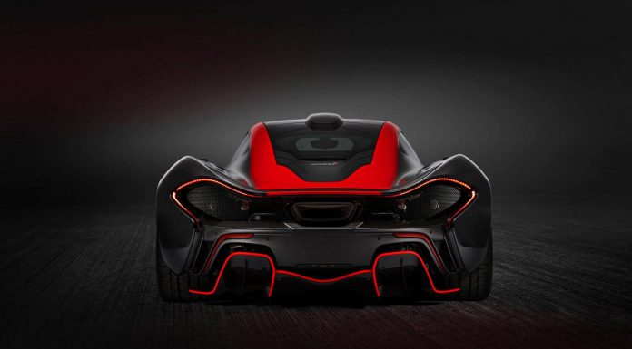 Red and Black McLaren P1 by MSO Rear