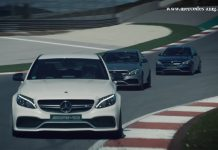 Mercedes-AMG C63 on track