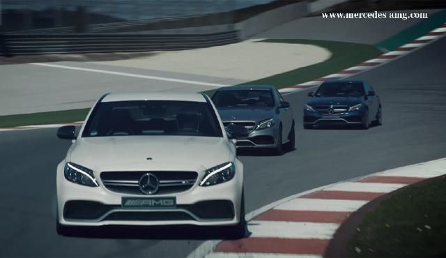 Mercedes-AMG C63 on track