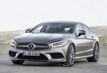 Next-gen Mercedes-Benz CLS rendered front