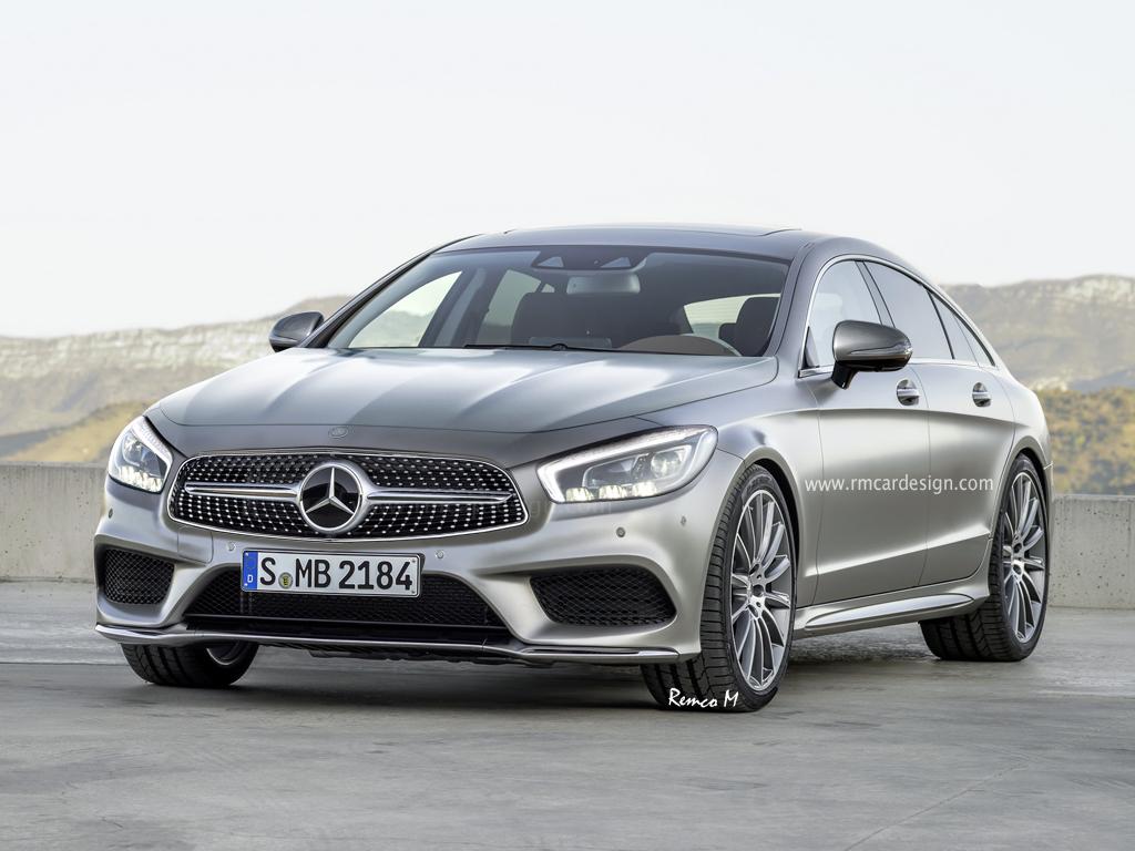 Next-gen Mercedes-Benz CLS rendered front