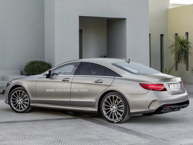 Next-gen Mercedes-Benz CLS rendered back