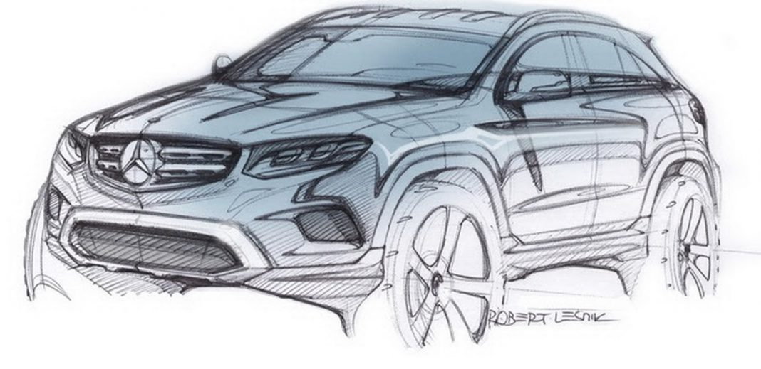 Mercedes-Benz GLC sketch revealed