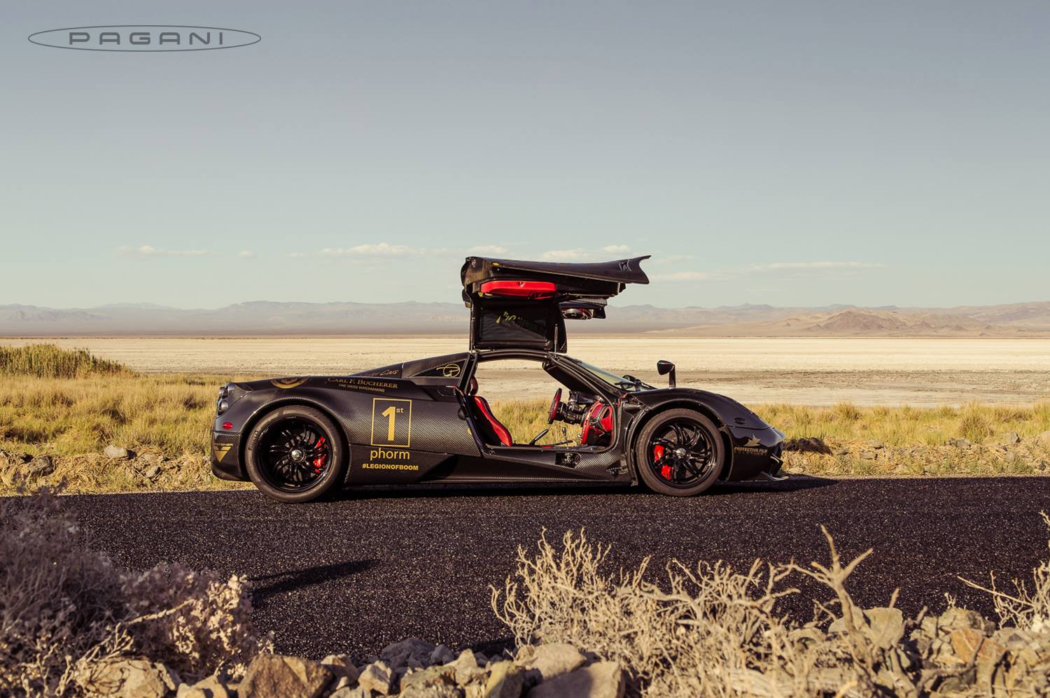 photo of the day: goldrush rally pagani huayra - gtspirit