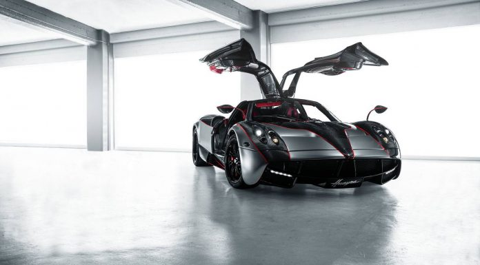 Satin Black Chrome Pagani Huayra with red accents