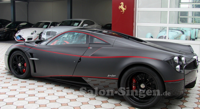 Matte carbon Pagani Huayra for sale rear